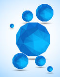 Abstract background with blue spheres. Bright illustration Stock Photos