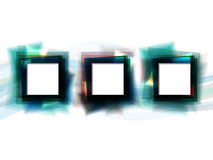 Abstract background with blue square frames. With white copyspace. Eps10 Stock Photography