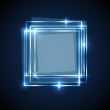 Abstract background with blue squares banner Royalty Free Stock Photos
