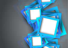 Abstract background with blue squares Royalty Free Stock Images