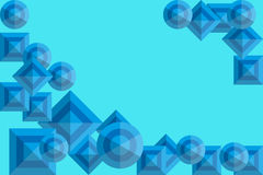 Abstract background with blue squares and circles. And space for text. Vector illustration EPS10 Stock Image