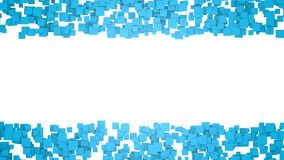 Abstract background with blue squares. Graphic illustration with free space for design or text. 3D rendering. Digital illustration with free space in centre Royalty Free Stock Photography