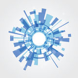 Abstract background from blue squares Royalty Free Stock Images