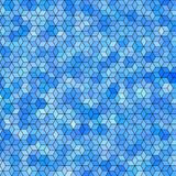 Abstract background with colorful hex polygons. Abstract background with blue stained glass hex polygons Royalty Free Stock Photo