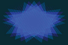 Abstract background of blue star Royalty Free Stock Images