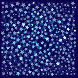 Abstract background with blue stars Stock Image