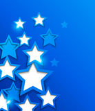 Abstract background. With blue stars vector illustration