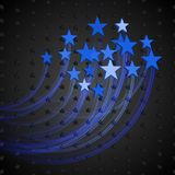 Abstract Background with Blue Stars Stock Photo