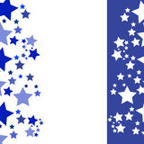 Abstract background - blue stars on white background.  Stock Photo