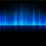 Abstract background. With blue straight lines and bubbles royalty free illustration
