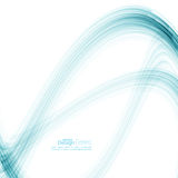 Abstract background with blue stripes. And curves. Concept new technology and dynamic motion. Digital Data Visualization. Annual Report with information  wave Royalty Free Stock Photos