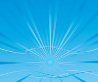 Abstract background with a blue sun. Abstract background with blue radiant sun vector illustration