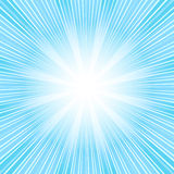 Abstract  background with blue sunburst (vector). Abstract  blue background with rays (vector Royalty Free Stock Photos