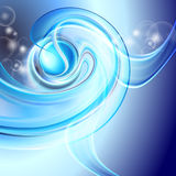 Abstract background blue. With swirl Royalty Free Illustration