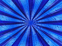 Abstract background. In blue tones in the form of rays and light stock illustration