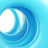 Abstract background: blue tonnel made of twirl Royalty Free Stock Photography