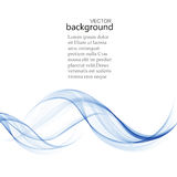 Abstract  background, blue transparent waved lines. Blue smoke wave. Blue wavy background Royalty Free Illustration