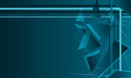 Abstract background with blue triangles Stock Images