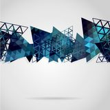 Abstract background with blue triangles. Use as backdrop. Place your text on the top Vector Illustration