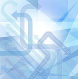 Abstract background in blue vector Stock Image