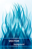 Abstract background - blue wave stock illustration