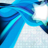 Abstract background with blue wave. Illustration for your design Stock Illustration