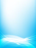 Abstract background blue wave curve and lighting element vector Royalty Free Stock Images