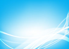 Abstract background blue wave curve and lighting element vector Royalty Free Stock Photography