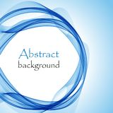 Abstract background with blue wave in the form of a circle. Abstract blue background with blue wave in the form of a circle stock illustration