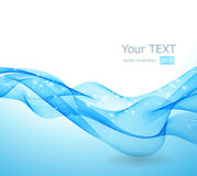 Abstract background with blue wave. Vector illustration Abstract background with blue wave Royalty Free Illustration