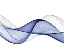 Abstract background, blue waved lines for brochure, website, flyer design vector illustration