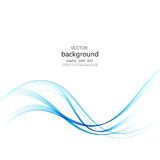 Abstract  background, blue waved lines for brochure, website, flyer design. Royalty Free Stock Photography