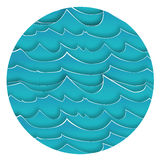 Abstract Background with Blue Waves. Vector Illustration stock illustration