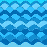Abstract background with blue waves. Vector illustration Royalty Free Stock Photo