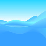 Abstract Background of Blue Waves, Vector Illustration Royalty Free Stock Images