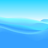 Abstract Background of Blue Waves, Vector Illustration Stock Photography