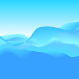 Abstract Background of Blue Waves, Vector Illustration Royalty Free Stock Photo