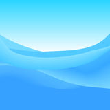 Abstract Background of Blue Waves, Vector Illustration Stock Image