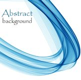 Abstract background with blue waves on a white background. Abstract blue waves on a white background, in the form of a semicircle vector illustration