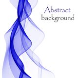 Abstract background with blue waves on a white background. Abstract blue waves on a white background, in the form of colored smoke, or a stream of flowing water vector illustration