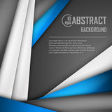 Abstract background of blue, white and black. Origami paper. Vector illustration. EPS 10 Royalty Free Stock Images
