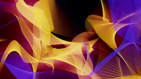 Abstract background in blue and yellow on black stock video footage