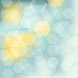 Abstract background. In blue and yellow with polygon pattern Royalty Free Stock Images