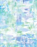 Abstract background of blues, greens and mauve. A brush painted watery abstract impressionist background Royalty Free Stock Image