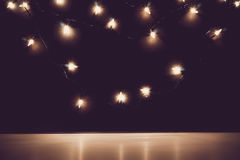 Abstract background blur lights Christmas decoration Royalty Free Stock Image