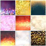 Abstract background blur vector. Universal different vector blur patterns set. Endless texture abstract pattern fills background surface textures. Set of Royalty Free Stock Photos