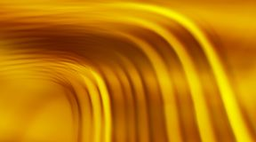 Abstract background with blurred gold waves. Useful for website design, mobile application & internet Stock Photos