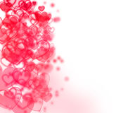 Abstract background - blurred hearts and dots Royalty Free Stock Photos