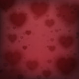 Abstract background with blurred hearts. Stock Image