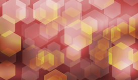 Abstract background with blurred hexagonal bokeh. Colorful abstract background with blurred hexagonal bokeh Royalty Free Stock Images